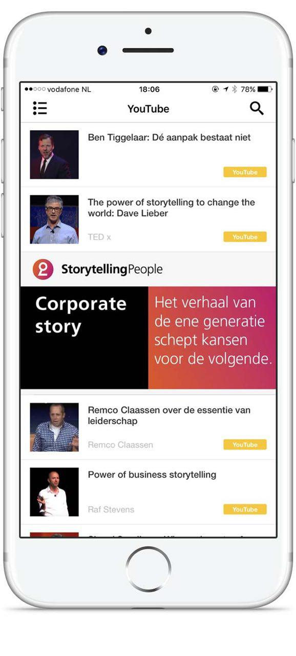 Storytelling People app video